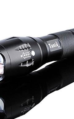 Недорогие -Светодиодные фонари Водонепроницаемый Масштабируемые 3000 lm Светодиодная лампа LED излучатели 5 Режим освещения с батареей и зарядным устройством / Перезаряжаемый / Алюминиевый сплав / Стандарт США