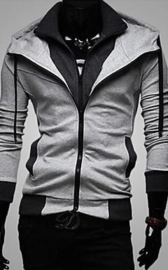 رخيصةأون -هوديي رجالي لون سادة أساسي