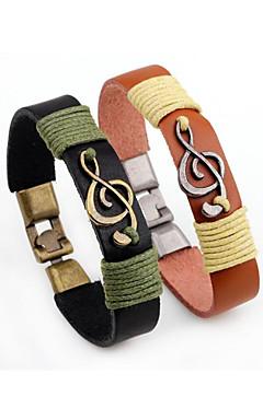 ieftine -Bărbați Brățări Bangle Stil Vintage Stilat Aliaj Bijuterii brățară Negru / Maro Pentru Zilnic