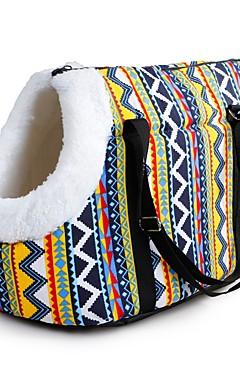 رخيصةأون -كلاب قطط حيوانات أليفة صغيرة الحاملة حقائب تحمل على الظهر وللسفر حقيبة الكتف حيوانات أليفة حاملات مقاوم للماء المحمول مصغرة لون سادة أحمر أزرق قوس قزح