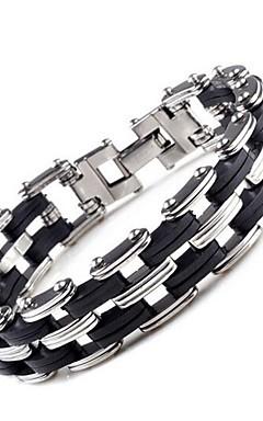 ieftine -Bărbați Brățări cu Lanț & Legături Modă Bijuterii inițială Oțel titan Bijuterii brățară Argintiu Pentru Zilnic