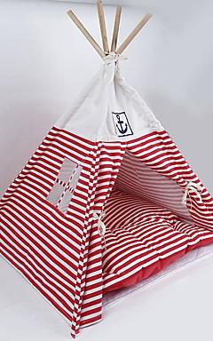 povoljno -Psi Mačke Kreveta Teepee Tipi Tekstil Ljubimci Podmetači i jastučići Dungi Camping & planinarenje Šator Putovanje Crvena Plava