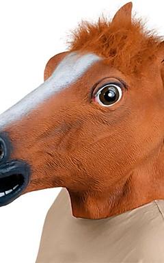 povoljno -Glava konja Maske za Noć vještica Rekviziti za Noć vještica Životinjska maska Igračke za Noć vještica Guma Fun & Whimsical Kostimirana zabava Jeziv smiješno Glava konja Kostim Strava i užas Odrasli