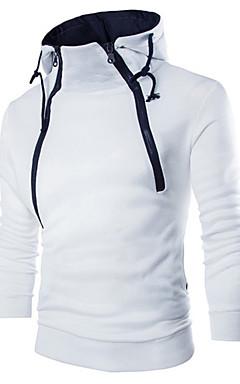 povoljno -Muškarci Ležerne prilike Slim Sportska majica Jednobojni Okrugli izrez
