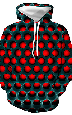 povoljno -Muškarci Veći konfekcijski brojevi Osnovni / Ležerno / za svaki dan Hoodie Geometrijski oblici / Color block / 3D S kapuljačom