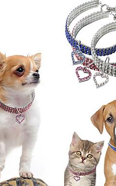 ieftine -Câini Gulere Colier Dimensiune Ajustabilă Decorațiuni Inimă Aliaj Alb Albastru Roz