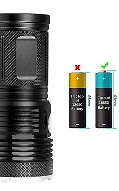 Недорогие -EX18 Светодиодные фонари Водонепроницаемый 14200 lm Светодиодная лампа LED 18 излучатели Руководство 3 Режим освещения
