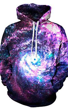 povoljno -Muškarci Osnovni Širok kroj hoodie jakna Galaksija / 3D S kapuljačom