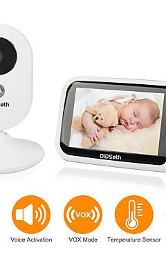 povoljno -didseth 0,3 mp bežični video monitor za bebe cmos / micro / ptz pan i naginjanje 131 ° automatizirano infracrveno područje noćnog vida 5 m 2.4ghz rezolucija zaslona 640x480 ugrađena pjesma melodije