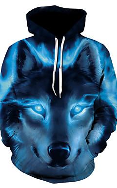 povoljno -Muškarci Osnovni hoodie jakna 3D S kapuljačom