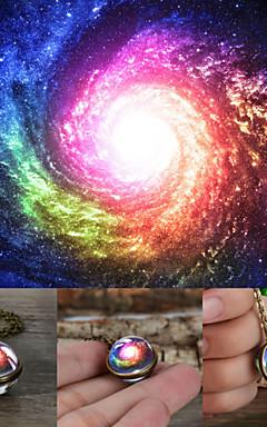 رخيصةأون -رجالي نسائي ألوان متعددة عقد ستاردست مرحلة القمر عتيق عارضة / رياضي زجاج كروم برونز 50+5 cm قلادة مجوهرات 1PC من أجل هدية