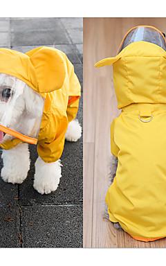 رخيصةأون -كلب معطف المطر ملابس الكلاب أصفر أخضر كوستيوم مادة مختلطة مقاومة الماء S M L XL XXL