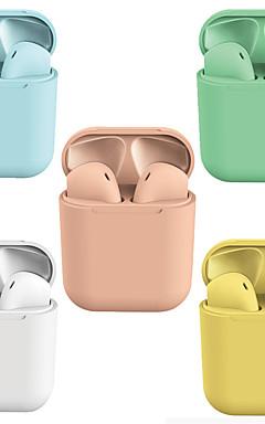 povoljno -lizalica macaron i12 tws prave bežične slušalice bluetooth 5.0 slušalice iskoči za ios pametne telefone hands-free kontrola osjetljiva na dodir automatske slušalice za uparivanje