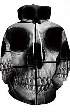 povoljno -Muškarci Ležerne prilike Hoodie 3D / Lubanje
