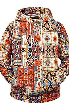 رخيصةأون -هوديي رجالي مع قبعة ألوان متناوبة أساسي