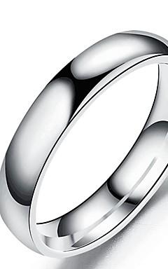 رخيصةأون -رجالي نسائي عصابة الفرقة خاتم الذيل الدائري 1PC أسود فضي ذهبي روزي الفولاذ المقاوم للصدأ الصلب التيتانيوم دائري أساسي موضة هدية مناسب للبس اليومي مجوهرات كوول