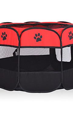 povoljno -Psi Kavezi Kreveta Ljubimci Prijevoznici Može se sklopiti Ležerno / za svaki dan Jednobojni Footprint / Paw Bijela Fuksija Crvena