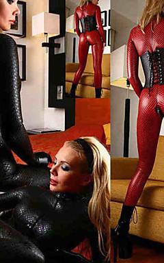 povoljno -Žene Seksi uniforme Spol Catsuit Jednobojni Hula-hopke / Onesie