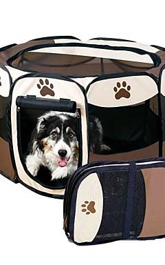 رخيصةأون -قط كلب حيوانات أليفة حاملات قابلة للطى كارتون بني أحمر داكن أصفر