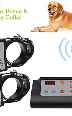 رخيصةأون -2 في 1 سياج كلب كهربائي لاسلكي&أمبير. تدريب طوق الكلب التدريب الياقات ماء قابلة للشحن نظام الاحتواء الحيوانات الأليفة للكلاب