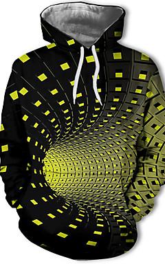 baratos -Homens Casual / Moda de Rua Moletom Geométrica / Estampa Colorida / 3D