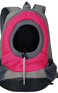 رخيصةأون -قط كلب الحاملة حقائب تحمل على الظهر وللسفر نايلون حيوانات أليفة سلال لون سادة المحمول متنفس أصفر أخضر أحمر