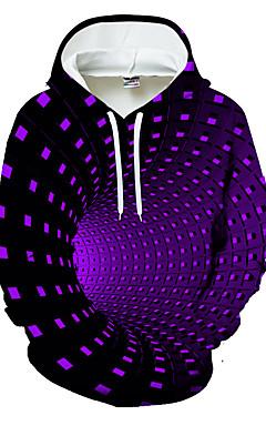povoljno -Muškarci Ležerne prilike / Osnovni Hoodie Geometrijski oblici / Color block / 3D