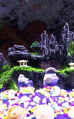 hesapli -Akvaryum Akvaryum Dekorasyonu Taş Kayalar Mini Akvaryum Saç Süsleri Kayalar Taşlar Zehirsiz ve Tatsız Reçine 1 parça