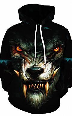 povoljno -Muškarci Osnovni Slim hoodie jakna 3D S kapuljačom