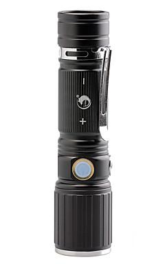 Недорогие -U'King Светодиодные фонари 2000 lm Светодиодная лампа LED излучатели 3 Режим освещения с батареей и адаптером Масштабируемые Фокусировка Клемма / Алюминиевый сплав