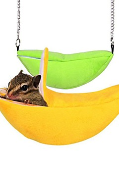 رخيصةأون -حيوانات أليفة صغيرة الأسرّة قطن حيوانات أليفة بطانات لون سادة قابل للغسيل كارتون سهل التركيب أصفر أخضر