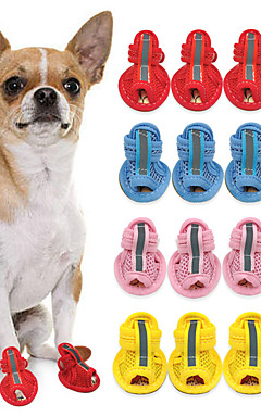 cheap -Cat Dog Boots / Shoes For Pets PU Leather Yellow / Summer