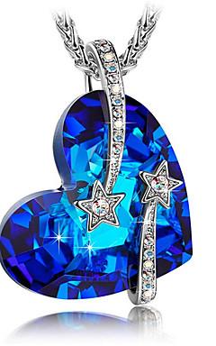 رخيصةأون -رجالي نسائي قلائد الحلي عقد الصلب التيتانيوم أزرق 45 cm قلادة مجوهرات 1PC من أجل هدية مناسب للبس اليومي مدرسة شارع