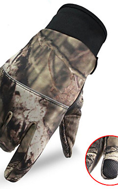 cheap -Men's Camo Hunting Gloves Thermal / Warm Touch Screen Wear Resistance Camo / Camouflage Spring Fall Winter Nylon Camping / Hiking Hunting Fishing Climbing