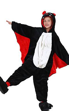 povoljno -Dječji Kigurumi plišana pidžama Šišmiš Sa životinjama Onesie pidžama Flanel Flis Crn Cosplay Za Dečki i cure Zivotinja Odjeća Za Apavanje Crtani film Festival / Praznik Kostimi / Hula-hopke / Onesie
