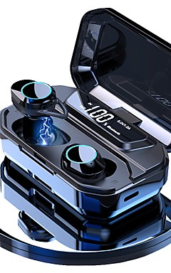 povoljno -litbest g02 tws istinske bežične ušice bluetooth 5.0 stereo ipx7 vodootporan 3300mah baterija napajanje banke led display type-c slušalice touch control slušalice s finim sportskim fitnesom za pametne