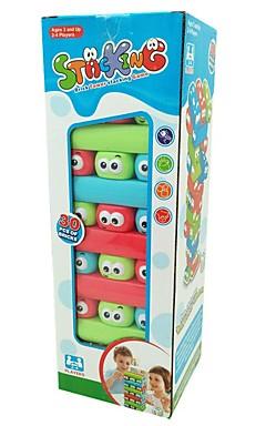 ieftine -30 pcs Jocuri Puzzle de masă Jenga Plastic Desene Animate Jucarii de decompresie Interacțiunea familială Pentru copii Adulți Jucarii Cadouri