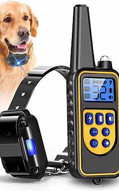 ieftine -Câini Gulere Antrenament anti-Scoarță Electric LCD Controlat de la distanță Ήχος Vibrație Clasic Metalic Plastic Negru