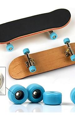 ieftine -1 pcs Skateboard-uri cu degetele Mini tastaturi Tastaturi din lemn Jucării Deget De lemn MetalPistol cu roți și instrumente de înlocuire Patină Pentru copii Adolescent Favoare de petrecere pentru