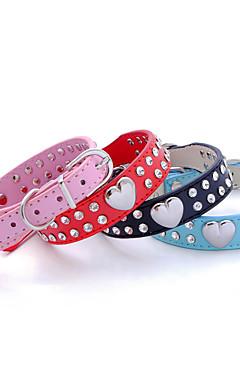 ieftine -Câine Gulere Ajustabile / Retractabil Bliț Ștras Piatră PU piele Rosu Albastru Roz