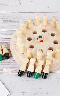 ieftine -Jocuri de masă Jucării Educaționale Șah Momory De lemn Copilului Preşcolar Baieti si fete Jucarii Cadouri