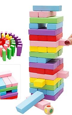 ieftine -48 pcs Jocuri de masă Jucării Educaționale Turnuri din Cuburi De lemn Profesional Echilibru Pentru copii Adulți Băieți Fete Jucarii Cadouri