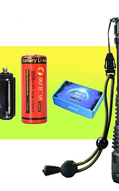 Недорогие -Светодиодные фонари Водонепроницаемый Масштабируемые Светодиодная лампа 1 излучатели с батарейками с батареей и USB кабелем Водонепроницаемый Масштабируемые Портативные