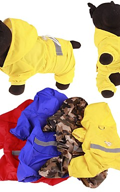 cheap -Dog Rain Coat Waterproof Outdoor Dog Clothes Yellow Red Blue Costume Mixed Material S M L XL XXL