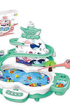 ieftine -Jucarii de pescuit Jucărie pentru pescuit rotativ Pinguin Pești Magnetic Electric 2 jucători ABS Pentru copii Jucarii Cadou