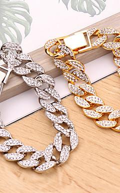 ieftine -Bărbați Pentru femei Bratari Vintage Link cubanez Val Baroc European Aliaj Bijuterii brățară Auriu / Argintiu Pentru Festival