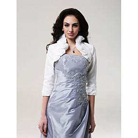 olcso Kiárusítás-Taft Esküvő Esküvői borogatás Val vel Fodrozott Kabátok / dzsekik