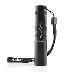 olcso Sport és életmód-Tank007 LED zseblámpák UV fényes elemlámpák Kézi elemlámpák Vízálló LED - 1 Sugárzók 1 világítás mód Vízálló Az ultraibolya fény / Alumínium ötvözet