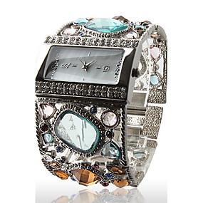 olcso Bohém karórák-Női Luxus karórák Karóra Diamond Watch Kvarc Ezüst Alkalmi óra Analóg hölgyek Szikra Bokaperec Divat