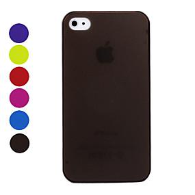 olcso Kiárusítás-Case Kompatibilitás iPhone 4/4S iPhone 4s / 4 Fekete tok Kemény PC